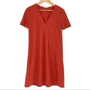 Zara Red Shift Dress Size S